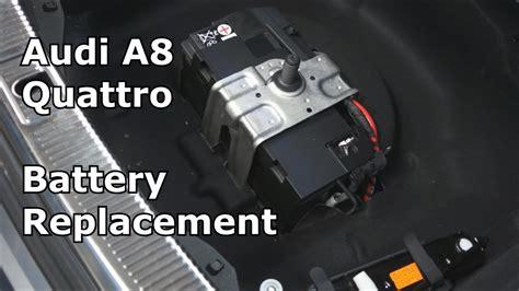 audi a8 battery replacement audi a8 quattro battery replacement the battery shop