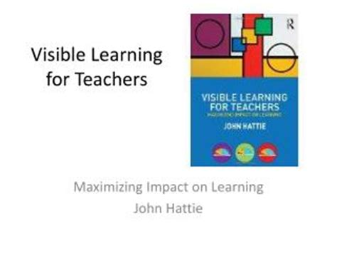 Ppt John Hattie S Visible Learning Powerpoint