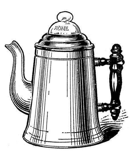 Vintage Kitchen Clipart by Vintage Kitchen Clip Tea Kettle And Coffee Pots