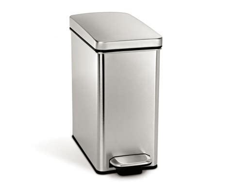 step trash can bathroom simplehuman 10l profile stainless steel step trash can