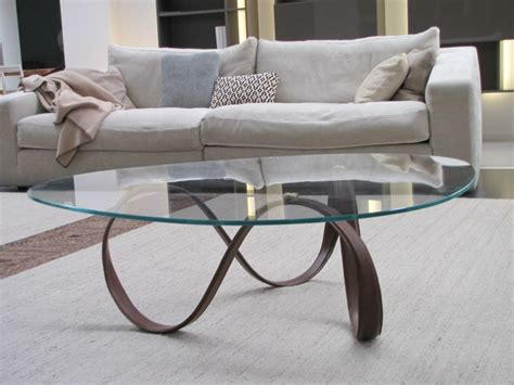 Belt Table White glass coffee table for living room belt by estel