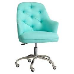 Aqua Fuzzy Desk Chair Tufted Desk Chair