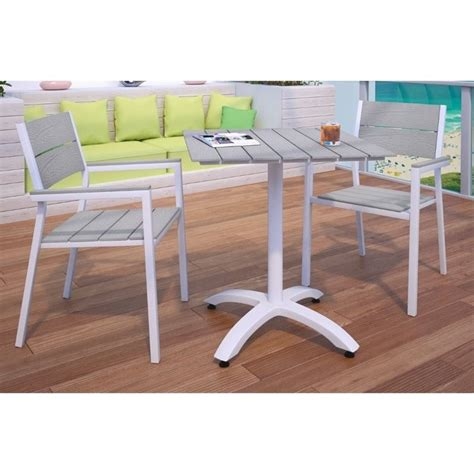 Outdoor Dining Set 3 Modway Maine 3 Outdoor Patio Dining Set In White And