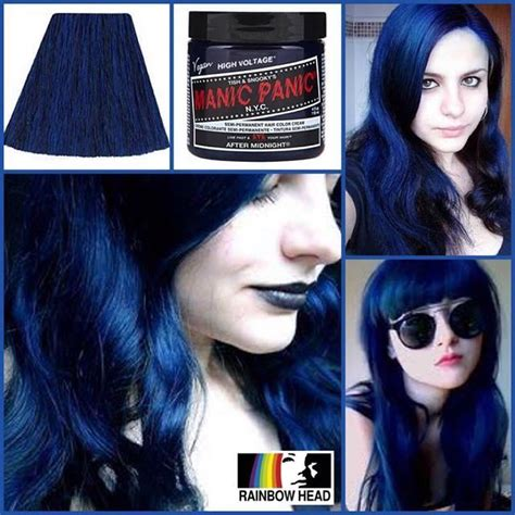 blue manic panic hair dye after midnight manic panic pinteres