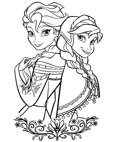 frozen winter coloring pages frozen elsa to print or for free