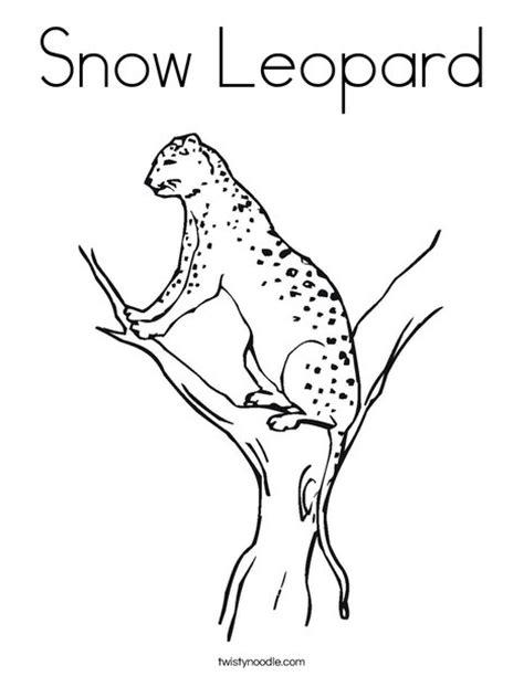 Snow Leopard Coloring Page Twisty Noodle Free Snow Leopard Coloring Pages To Print