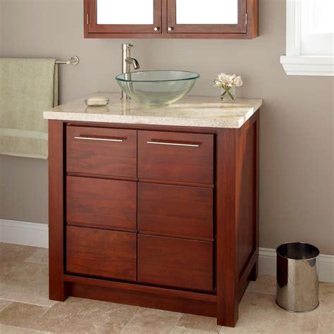 Bathroom Vessel Sink Vanity by 24 Quot Venica Mahogany Vessel Sink Vanity Bathroom Vanities