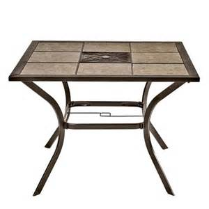 Patio Tile Table Charleston 40 Inch Square Tile Top Patio Table Shopko
