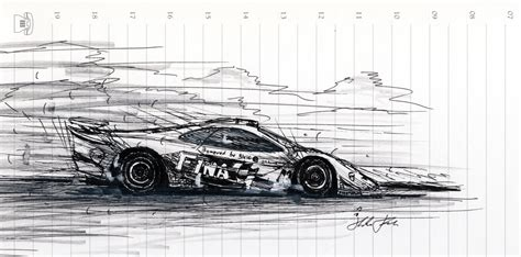 mclaren f1 drawing mclaren f1 gtr by klem on deviantart