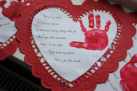 valentines message for parents poems for foot and prints for mothers got the