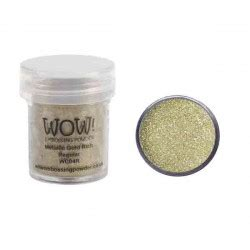 Golden Pills For The Obscenely Rich by Metallic Gold Rich Embossing Powder The Foiled Fox