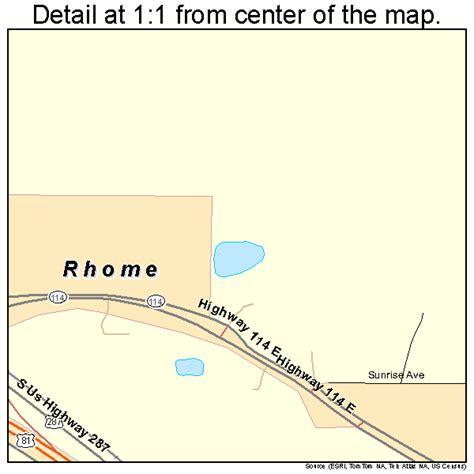 rhome texas map rhome texas map 4861700
