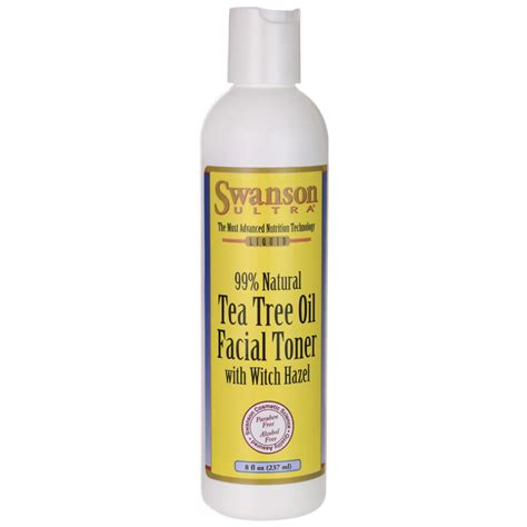 Toner Tea Tree swanson ultra tea tree toner with witch hazel 8 oz 237 ml liquid swanson health