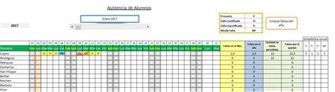 registro de asistencia el blog de olimpia registro de asistencia de alumnos en excel planillaexcel com