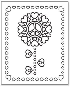coloring pages of hearts and peace signs printable coloring pages peace hearts printable pdf