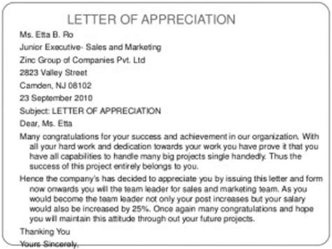 appreciation letter for employee who did sle customer service sle letter of appreciation 28 images