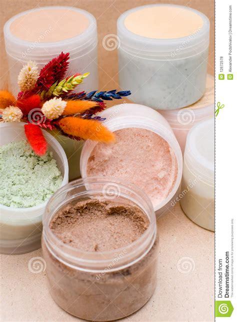 Scrub Tiff jars with scrub royalty free stock photos image