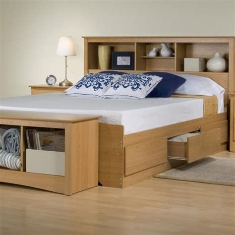 platform bed with bookcase headboard size storage bed with bookcase headboard kian king