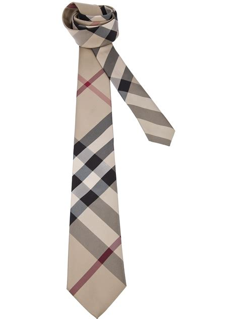 check tie lyst burberry classic check print tie in for