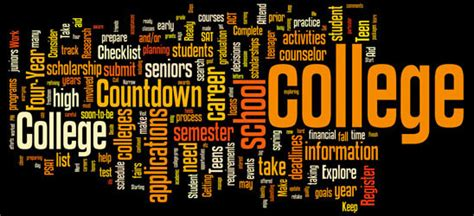 College Planning Getting Ready For College A Four Year Checklist For High