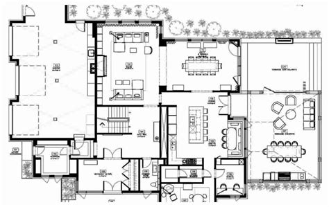 modern mansion floor plans modern house floor plans decoration