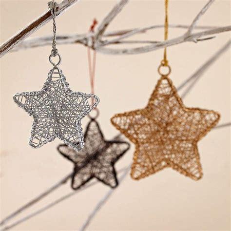 weihnachtsdeko sterne basteln weihnachtsdeko mit sternen aus draht ideen weihnachten