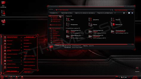 neon themes for windows 8 1 hud red theme giao diện neon đỏ đen tuyệt đẹp for windows