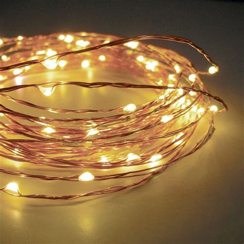60 Warm White Led String Lights Battery Operated 20 Feet Led Warm White String Lights