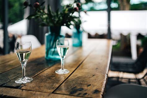Wine Glass Table Ls by Glass White Wine Wood Table Free Stock Photo Negativespace