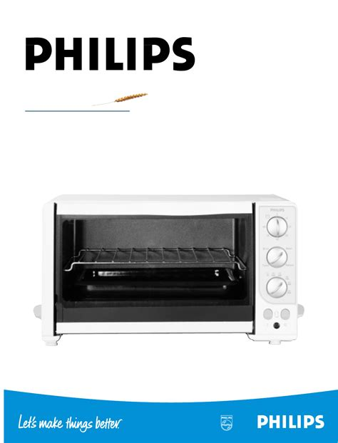 Toaster Philip philips oven kb 9100 user guide manualsonline