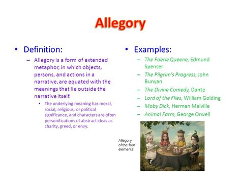 exle of allegory sol reading literary terms review ppt