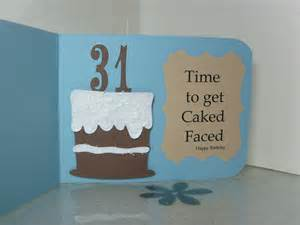 ramblings of a craft room happy 31st birthday card