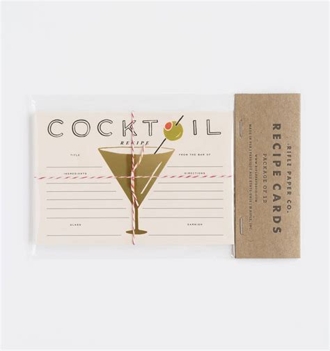 cocktail recipe cards by rifle paper co made in usa