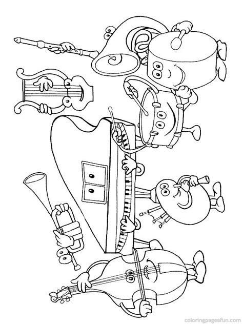 musical instruments coloring pages 24 preschool