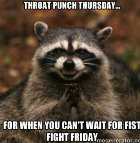 Funny Thursday Memes - best 25 throat punch thursday ideas on pinterest some