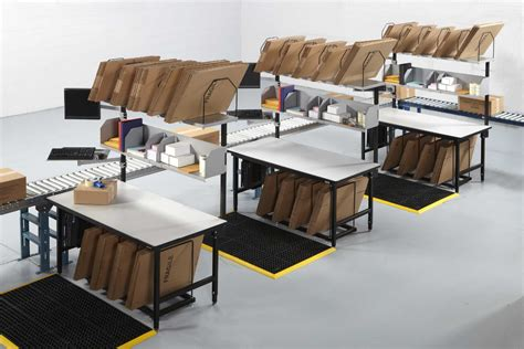 warehouse workstation layout stainless steel work tables
