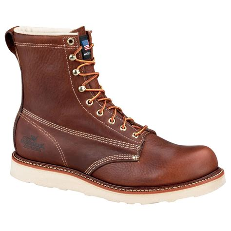 mens insulated boots s thorogood 174 waterproof 8 quot insulated wedge boots