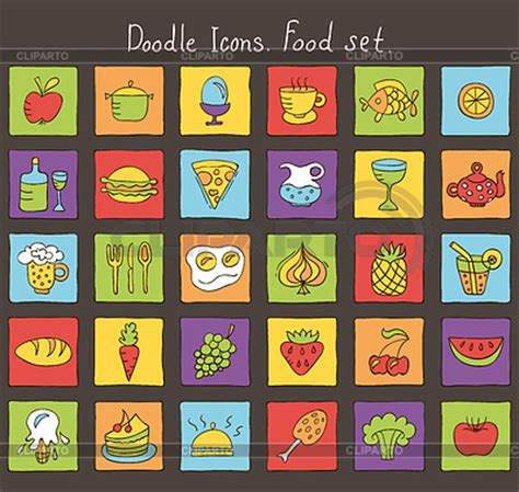 doodle food icons stock images by tatsiana kandrashova photos