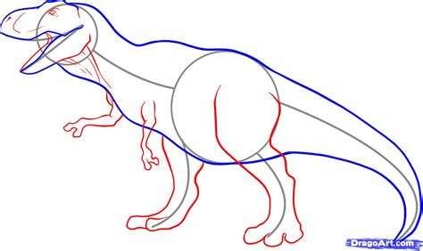 Drawing T Rex Step By Step by How To Draw A Tyrannosaurus Rex Step By Step Dinosaurs