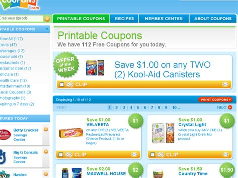 free printable grocery coupons without signing up the top 10 grocery coupon websites for cheapskates