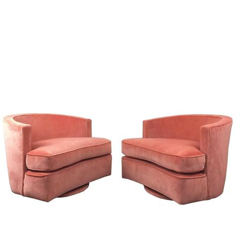 swivels for chairs pair of harvey probber swivel chairs at 1stdibs