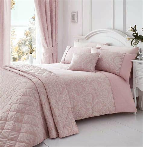 Pink Bedding by Laurent Pink Woven Damask Quilt Duvet Cover Sets Bedding