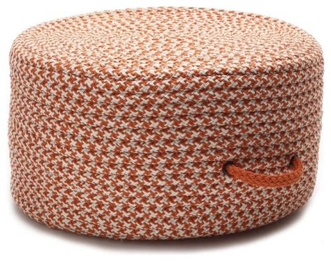 braided pouf ottoman braided houndstooth pouf round orange pouf ottoman