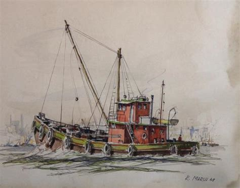 boats for sale ny ebay antique 1948 reginald marsh ny city harbor fishing boat