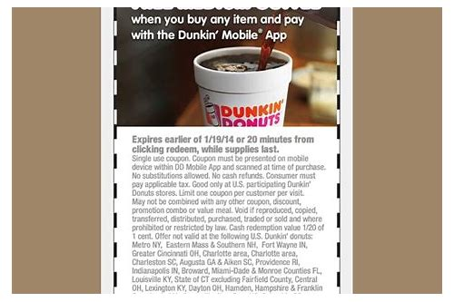 dunkin donuts coupons coffee ground