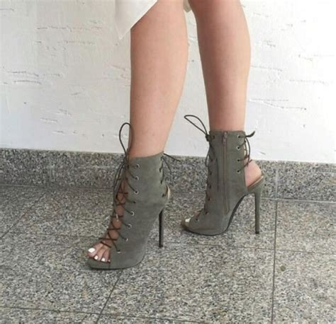 7 Heels For Fall by Shoes Kaki Khaki Black Heels High Heels Boots Booties
