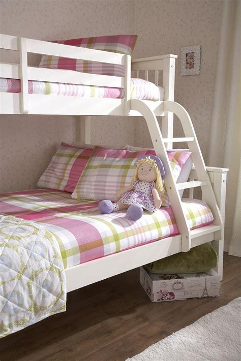 triple sleeper bunk bed gfw novaro white wooden trio triple sleeper bunk bed by gfw