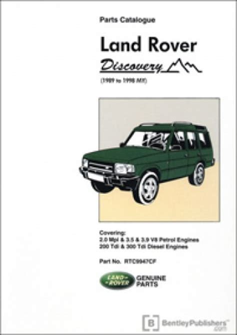 book repair manual 1989 land rover range rover navigation system land rover discovery parts manual 1989 to 1998 my