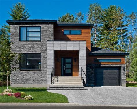 modern wood cabin  grey accents exterior modern