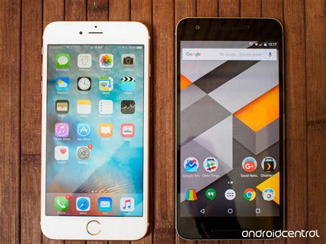 nexus 6p versus iphone 6s plus the big screen showdown android central